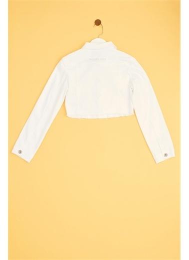Patrizia Pepe Kız Çocuk Beyaz Ceket 19Sspjfcs03 Beyaz